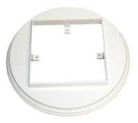 White Flat Rail Adapters for 5 1/2 lights